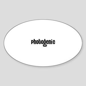 Photogenic Oval Sticker
