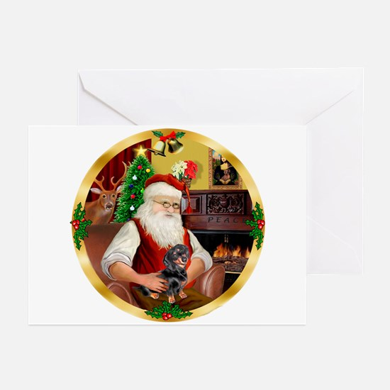 Santa's Dachshund #4 Greeting Cards (Pk of 20)