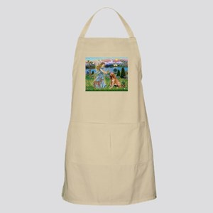 Garden Angel / Golden Sticker Apron