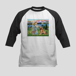 Garden Angel / Golden Sticker Kids Baseball Jersey