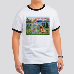 Garden Angel / Golden Sticker Ringer T