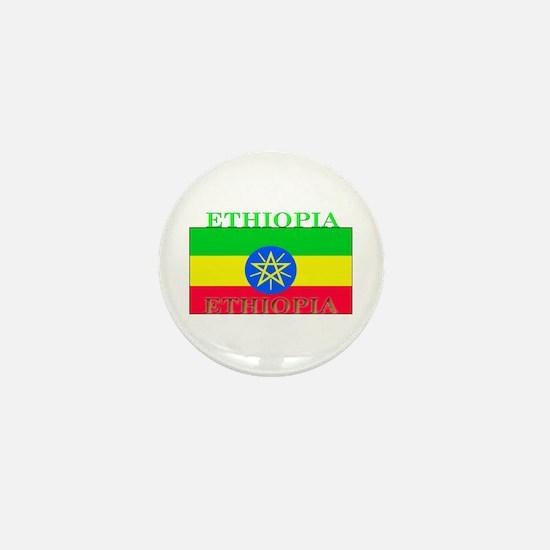 Ethiopia Ethiopian Flag Mini Button