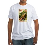 Patriotic Thanksgiving Fitted T-Shirt