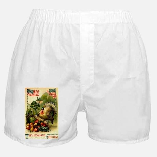 Patriotic Thanksgiving Boxer Shorts