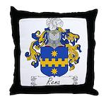 Rena Family Crest Throw Pillow