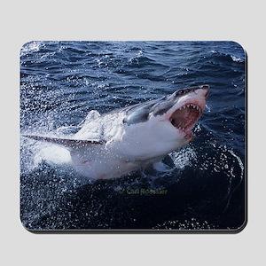 Attacking shark Mousepad