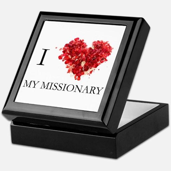 Cute Missionary girlfriend Keepsake Box