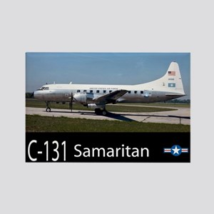 C-131 Samaritan Aircraft Rectangle Magnet