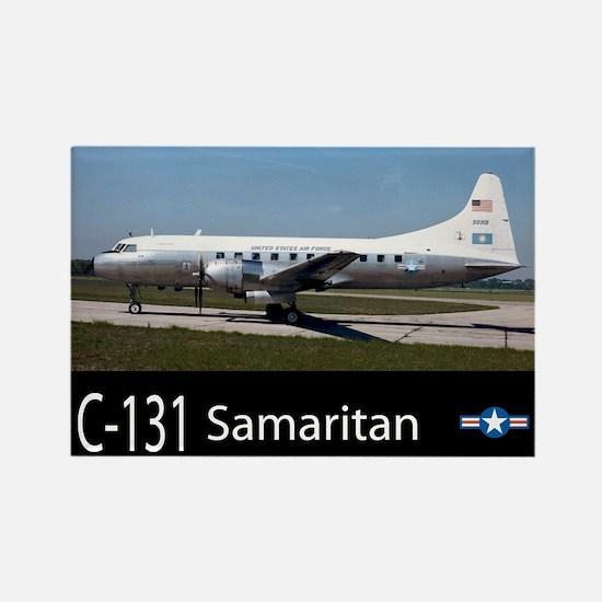 C-131 Samaritan Aircraft Rectangle Magnet