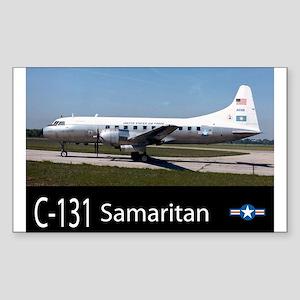 C-131 Samaritan Aircraft Rectangle Sticker
