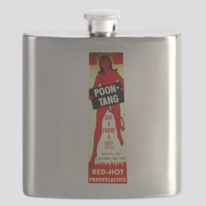 Poontang Condom Machine Flask
