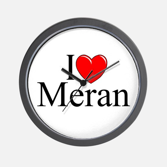 """I Love (Heart) Meran"" Wall Clock"