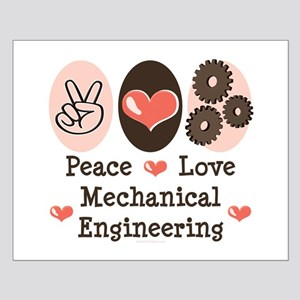 Peace Love Mechanical Engineering Small Poster
