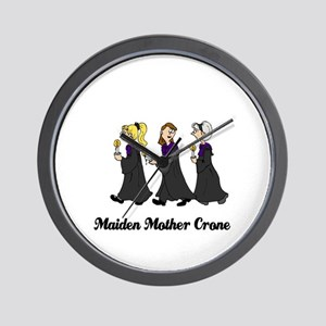 Three Women in Robes Wall Clock