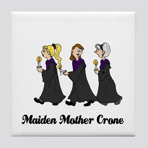Three Women in Robes Tile Coaster