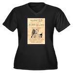 Frank James Women's Plus Size V-Neck Dark T-Shirt