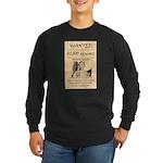 Frank James Long Sleeve Dark T-Shirt