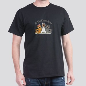 Three Kitty Cats Singing Dark T-Shirt