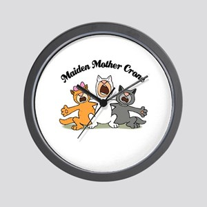 Three Kitty Cats Singing Wall Clock