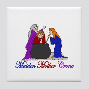 Maiden Mother Crone Tile Coaster