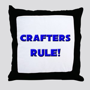 Crafters Rule! Throw Pillow