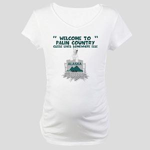 Spoof Sarah Palin Maternity T-Shirt