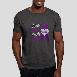 I Wear Purple For My Father 18 (AD) Dark T-Shirt