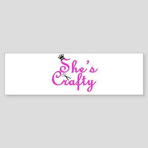 She's Crafty Bumper Sticker