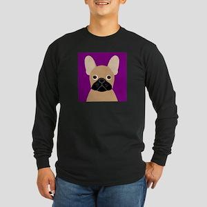 Frenchy (Masked Fawn) Long Sleeve Dark T-Shirt