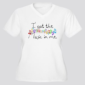 I got the music in me Women's Plus Size V-Neck T-S