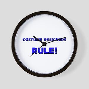 Costume Designers Rule! Wall Clock