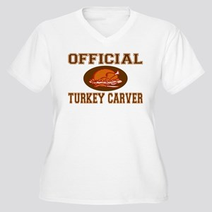 Official Turkey Carver Women's Plus Size V-Neck T-