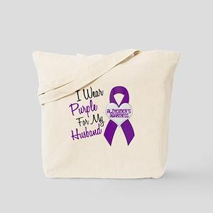 I Wear Purple For My Husband 18 (AD) Tote Bag
