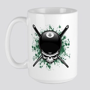 Pool Pirate II splat Large Mug