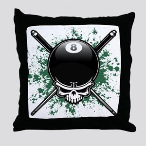 Pool Pirate II splat Throw Pillow
