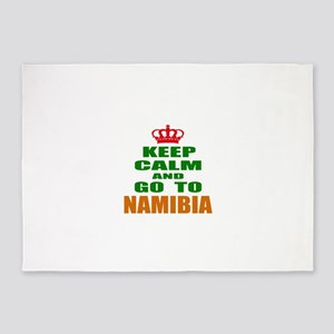 Keep Calm And Go To Namibia Country 5'x7'Area Rug