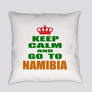 Keep Calm And Go To Namibia Countr Everyday Pillow