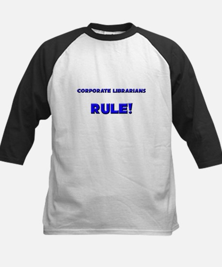Corporate Librarians Rule! Kids Baseball Jersey