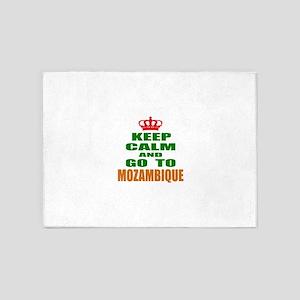 Keep Calm And Go To Mozambique Coun 5'x7'Area Rug