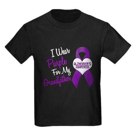 I Wear Purple For My Grandfather 18 (AD) Kids Dark