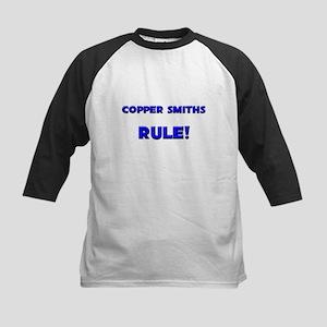 Copper Smiths Rule! Kids Baseball Jersey