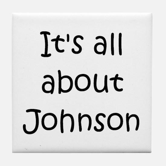 Funny Johnson Tile Coaster