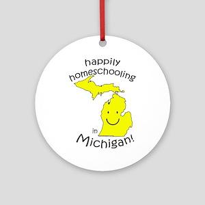 Happy in MI Ornament (Round)