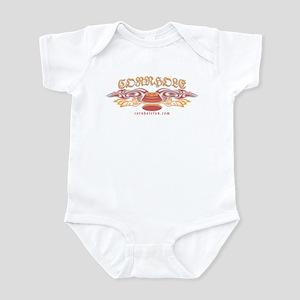 Red Tribal Cornhole Infant Bodysuit