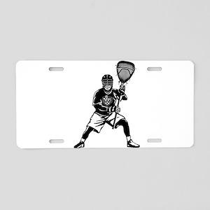LAX Goalie Aluminum License Plate