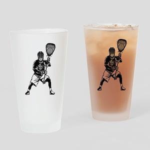 LAX Goalie Drinking Glass