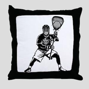 LAX Goalie Throw Pillow