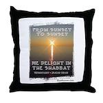 From Sunset to Sunset Sabbath Throw Pillow