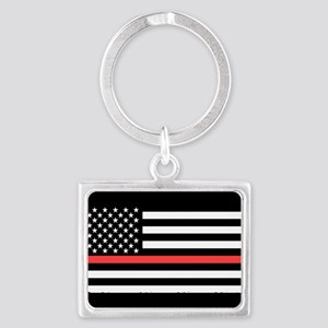 Red Line Flag Keychains