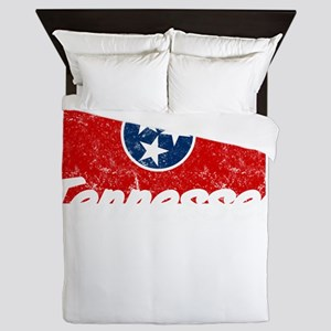 Tennessee State Flag Statehood Day Queen Duvet
